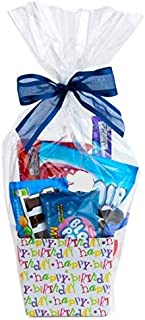 "Clear Basket Bags 16"" x 24"" Cellophane Gift Bags for Small Baskets and Gifts 1.2 Mil Thick (10 Bags)"