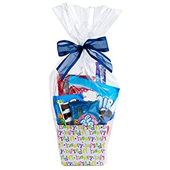 """Clear Basket Bags 16"""" x 24"""" Cellophane Gift Bags for Small Baskets and Gifts 1.2 Mil Thick  10 Bags"""