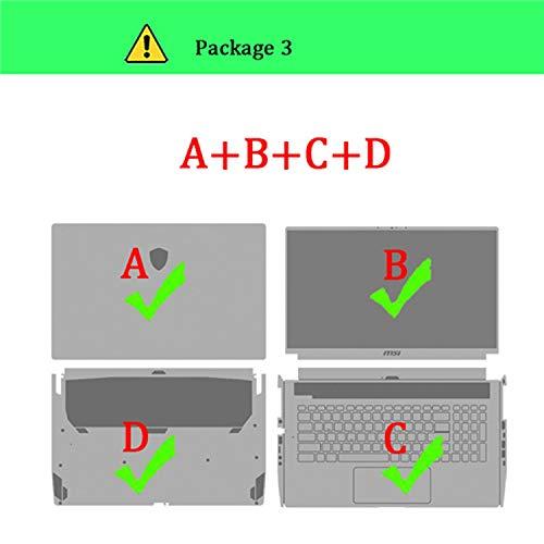Funda protectora para portátil MSI GL63 GL73 GF63 GP63 GP72 GP72MVR GS40 GS65 GS72 GS75 Paquete: 3 A B C D For MSI GP63