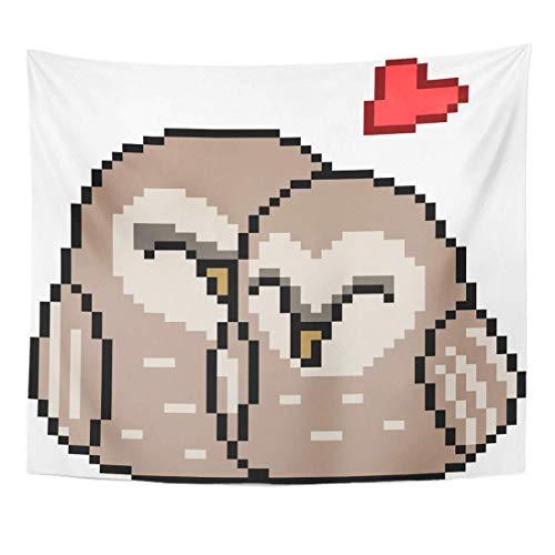 N\A Pico bit Pixel Bird Pareja Animal Novio Dibujos Animados Lindo Decoración del hogar Colgante de Pared para Sala de Estar Dormitorio Dormitorio Pulgadas
