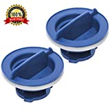 Ultra Durable WPW10077881 Dishwasher Rinse Aid Cap Replacement Part by Blue Stars - Exact Fit for Whirlpool & KitchenAid Dishwashers - Replaces W10077881 PS11748135 - PACK OF 2