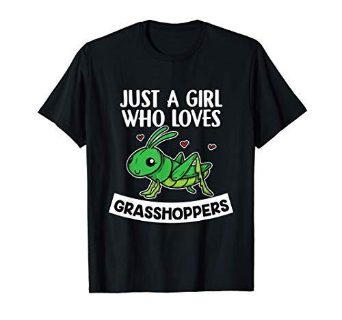 Just A Girl Who Loves Grasshoppers Disfraz De Saltamontes Camiseta