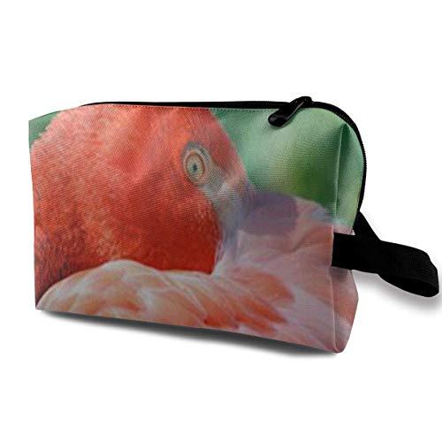 Bolsa de Maquillaje portátil Flamingo Rojo Bolsa de Almacenamiento para Las Mujeres Viaje