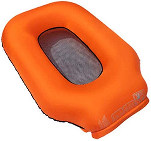 Outdoors Portable Air Slaapbank Hangmat, Zwembad Lounger Beach Air Couch Stoel Portable luchtbed Outdoor Hiking Camping Lazy Bed for liegen, Orange leilims (Color : Orange)