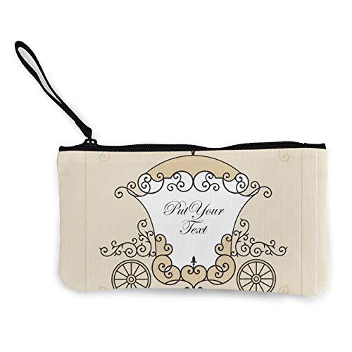 Moneda de lona, bolsa de transporte de boda, bolsa de cosméticos con cremallera, bolsa de maquillaje multifunción para teléfono móvil, bolsa de lápices con asa
