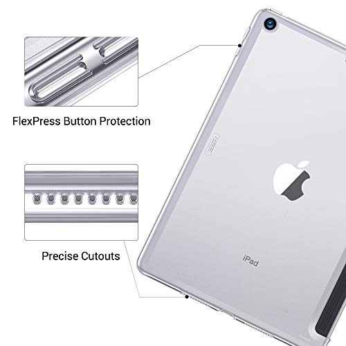 """ESR Clear Case for iPad Air 3 Rear Case, Clear Hard Case [Fits with Smart Keyboard and Smart Cover], Slim Fit Back Shell Cover Yippee Hard Shell Specially Designed for iPad Air 3 10.5"""" 2019 (Clear)"""