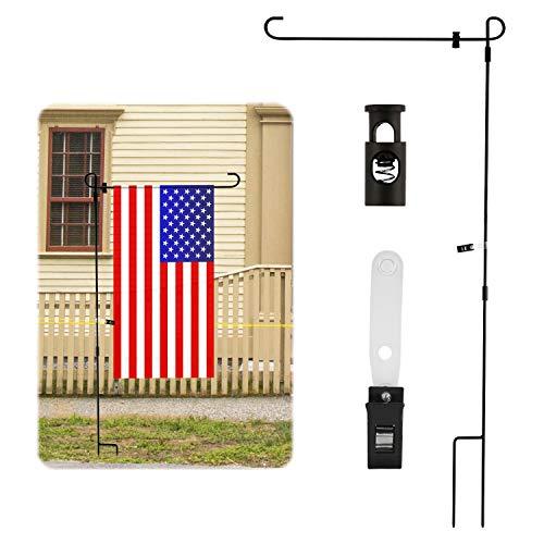 LUTER 89x40cm Gartenflaggenständer mit Stopper und Anti-Wind-Clip Mastständerhalter Hält Flaggen mit Einer Breite von Bis zu 36cm