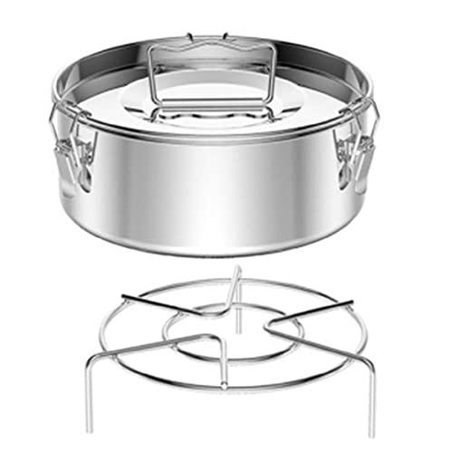 Flanera - Molde de flan de acero inoxidable con tapa y mango para olla a presión, accesorios de regalo para amantes de la hornada
