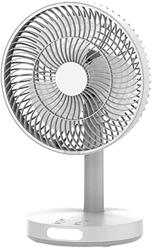 WOZIT Kennede Gold Rechargeable Table Fan