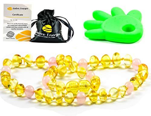 Collier Ambre 33cm - 100% Plus Haute Qualité Certifié l'Ambre la Baltique Authentique Collier Perles de plus gros! / Garantie de Remboursement!! (NON POLI)