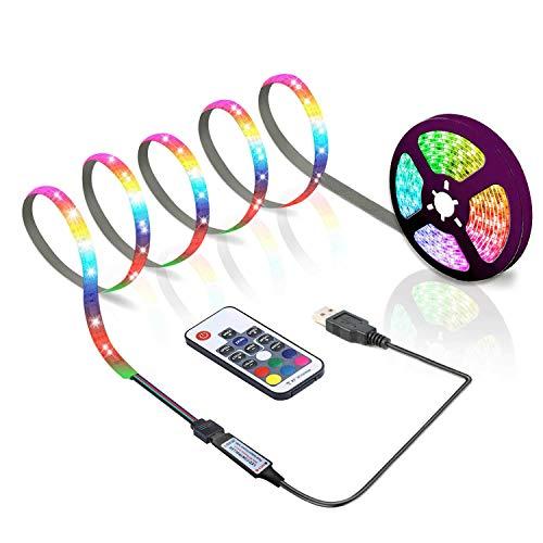 ACONDE 3Meter LED Streifen, USB LED Streifen Lichter mit 17 Tasten Fernbedienung, TV Hintergrundbeleuchtung [Energieklasse A+]