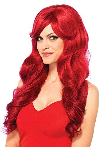 Leg Avenue Perruque Cheveux Longs Bruns Rouge Taille Unique