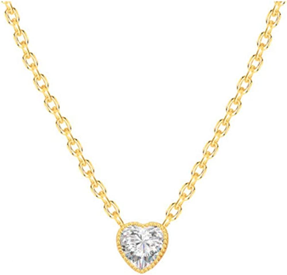 AgeXinjo Gold Necklace Opal Evil Eye Dainty CZ Heart Cross Bar Teardrop Choker Necklace for Women