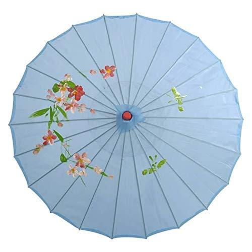 YUNGYE Chinesischen Stil Öl Papierschirm for Kinder Klassische Craft Bambus Regenschirm DIY steuern Dekor-Kunst Gemaltes Regenschirm Ölpapier Regenschirm (Color : 8)
