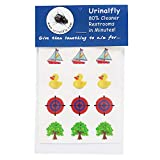 Urinal Fly Toilet Stickers, 12 Pack, Potty Targets-Duck,Boat,Tree,Target, 80% Cleaner Bathrooms in Minutes!