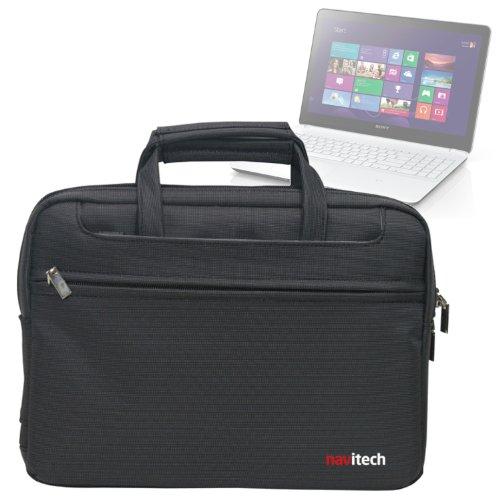 Navitech schwarzes Case/Cover/Tasche für Laptops/Notebooks & Tablet PC's für das Sony VAIO Fit 15