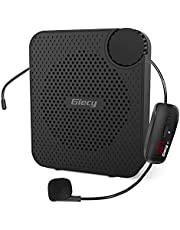 Giecy Voice Amplifier Portable Microphone wireless Voice Amplifiers Personal 1800mAh Rechargeable PA System for Classroom,Meetings