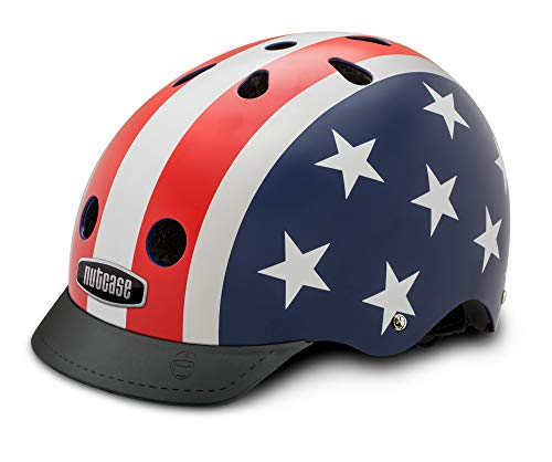 Nutcase NTG3 2020 Casco da Bici, Multicolore (Stars & Stripes), M