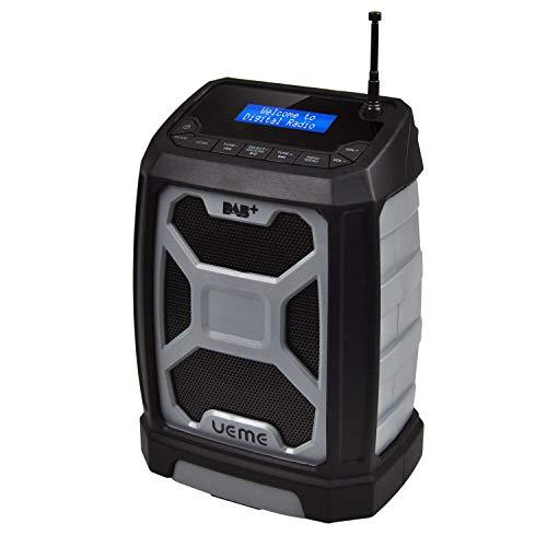 UEME Rugged DAB/DAB+ FM Jobsite Wireless Bluetooth Radio DB326 Gry/Blk