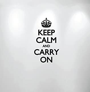 Innovative Stencils Keep Calm and Carry On Wall Decal Sticker Quote #1162 (16