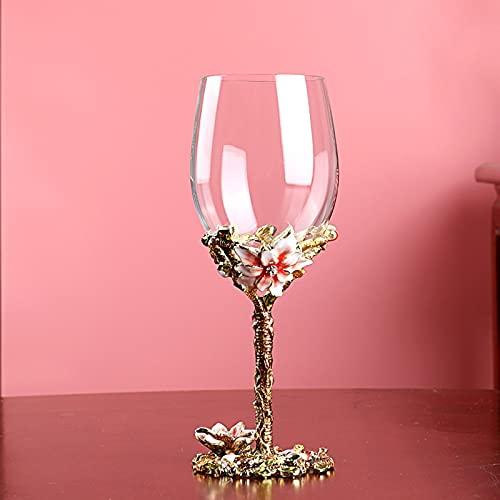 PPuujia Juego de copas de vino tinto con diseño de lirio, diseño creativo y personalidad europea, de lujo, para el hogar, decantador (color: 350 ml)