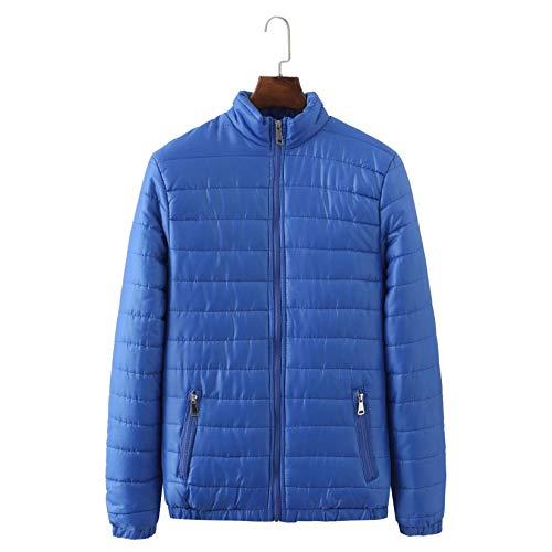 Abrigo acolchado para hombre, abrigo de invierno acolchado con bolsillos, cuello alto, chaqueta de invierno para hombre