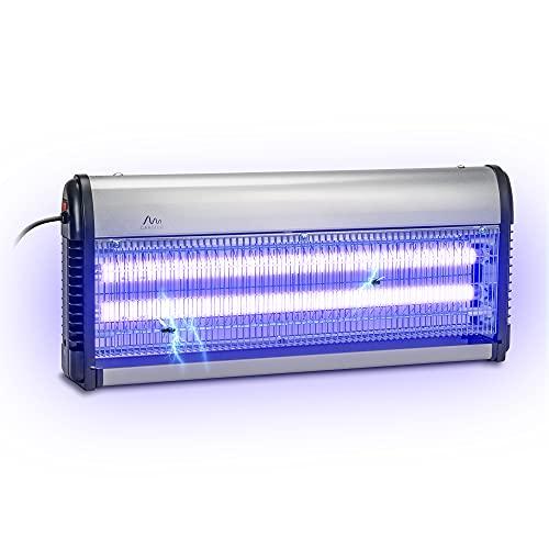 Gardigo - Zanzariera Elettrica 150M²; Lampada Insetticida Ammazza Zanzare Mosche Luce UV Ultravioletta 40 W; Trappola Insetti Interno Esterno; Cassettino Raccogli Insetti Catena Di Sospensione