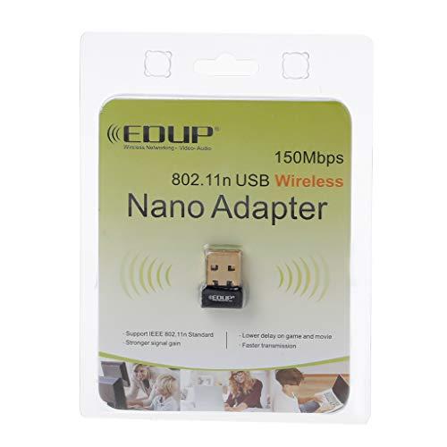 Ontracker - Tarjeta WLAN, adaptador mini USB WiFi 802.11 b/g/n, antena de 150 Mbit/s, receptor USB, tarjeta de red wifi externa para ordenadores portátiles de sobremesa