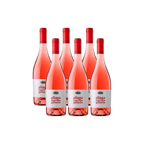 Aliaga Lágrima de Garnacha 2019 pack de 6 botellas. Vino rosado de la Bodega Viña Aliaga 100% garnacha de Navarra