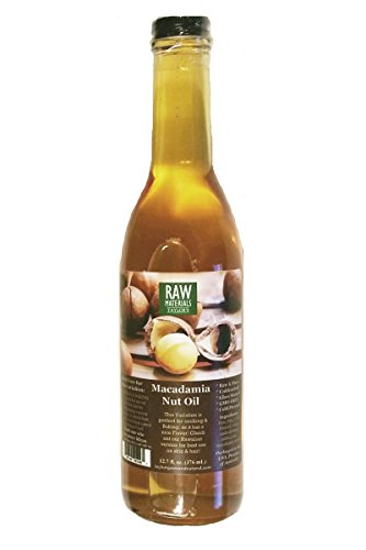 RAW Materials - RAW Virgin Macadamia Nut Oil - Unbleached - Cold Pressed - GMO FREE - 12.7oz. - Great for Cooking / Baking