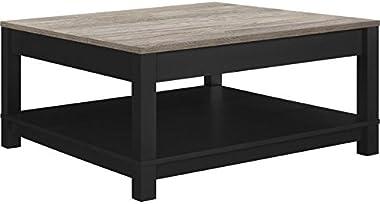 Ameriwood Home Carver Coffee Table, Black,5047196PCOM
