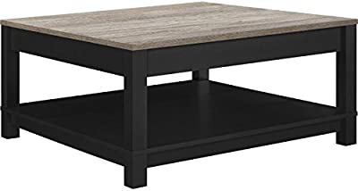 Ameriwood Home Carver Coffee Table, Black,5047196PCOM