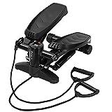 Mini stepper para casa, con pantalla multifunción, cilindro hidráulico sin desgaste, para entrenamiento de piernas, máquina de pedal, peso del usuario hasta 100 kg