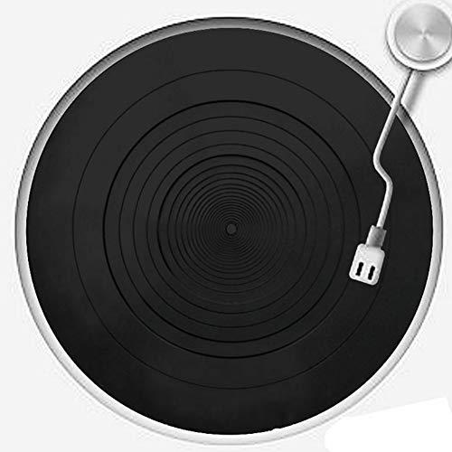 szlsl88 Tapis de platine antistatique, en caoutchouc pour platine vinyle, pour les joueurs LP réduisant les chocs.