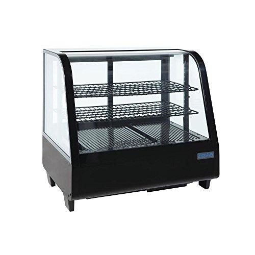 Polar mostrador refrigerado Merchandiser pantalla comercial 100L de frigorífico