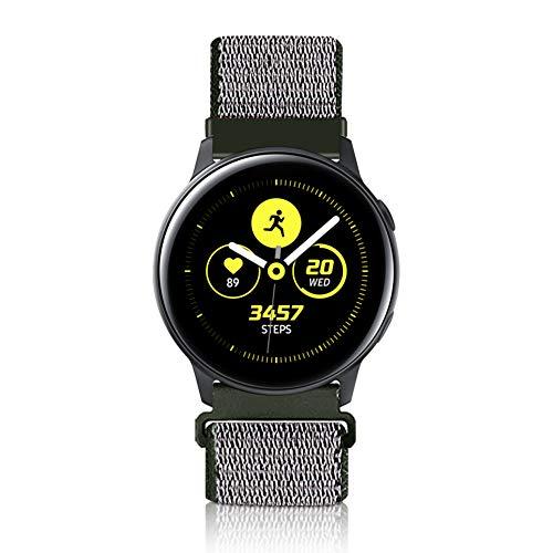 Vodtian 22mm Schnellverschluss Uhrenarmband für Galaxy Watch 46mm, Gear S3 Frontier/Classic, Fossil Gen 5/Herren Gen 4/Damen Gen 4, Huawei GT/GT 2, Nylon Ersatz Sport Armband (22mm, Tiefe Olive)