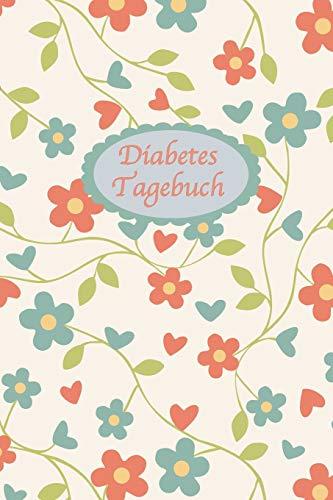 Diabetes Tagebuch: Diabetespass | Blutzucker und Insulin Tagebuch zum Eintragen für 2 Jahre | ca. A5 im Retro-Blumen Design