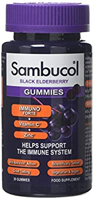 Sambucol Immuno Forte Gummies | Vitamin C | Zinc | Immune Support Supplement | 30 Gummies