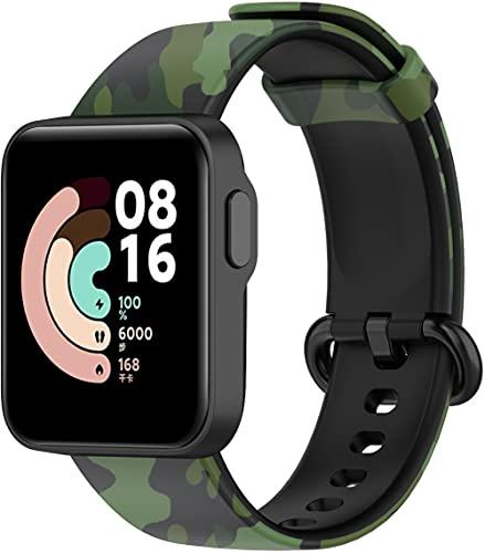 Gransho Bracelete de Borracha de Silicone Com Bracelete compatível com Xiaomi Mi Watch Lite/Redmi Watch, Bracelete de Substituição Impermeável (Pattern 9)