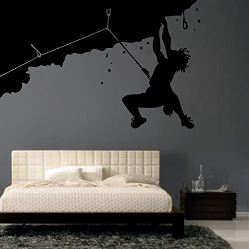 Adhesivo de Escalada Escaladores Calcomanías de Deportes Extremos Vinilos de Pared de Vinilo Decoración de Pared Mural 19 Color Escoger Pegatina de Escalada 58 * 91 cm