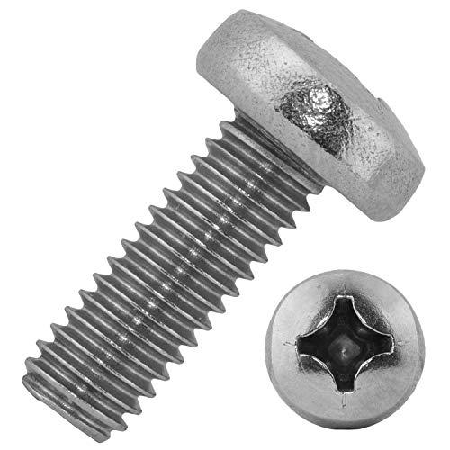 Mesaros® - Tornillos de cabeza redonda con cabeza de cruz (6 x 60 mm, acero inoxidable A2, 10 unidades)