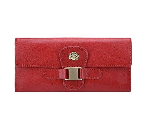 WITTCHEN Damen Geldbörse Portemonnaie, 2x19x9cm, Rot, Naturleder, Leder, 10-1-336-3