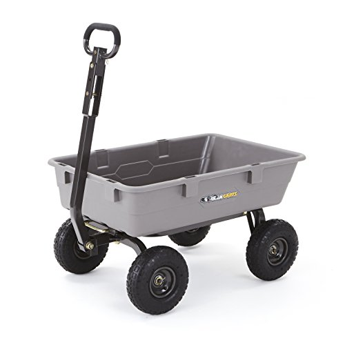 Gorilla Carts Poly Garden Dump Cart with Steel Frame and 10