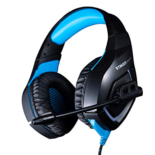 Woxter Stinger GX 200 H -Auriculares Gaming 2.0 Retroiluminados con micrófono para PS4 – PC – Xbox One – Switch,Reducción de Ruido,Diadema Ajustable,Micrófono unidireccional,Adaptador 2 en 1 Incluido