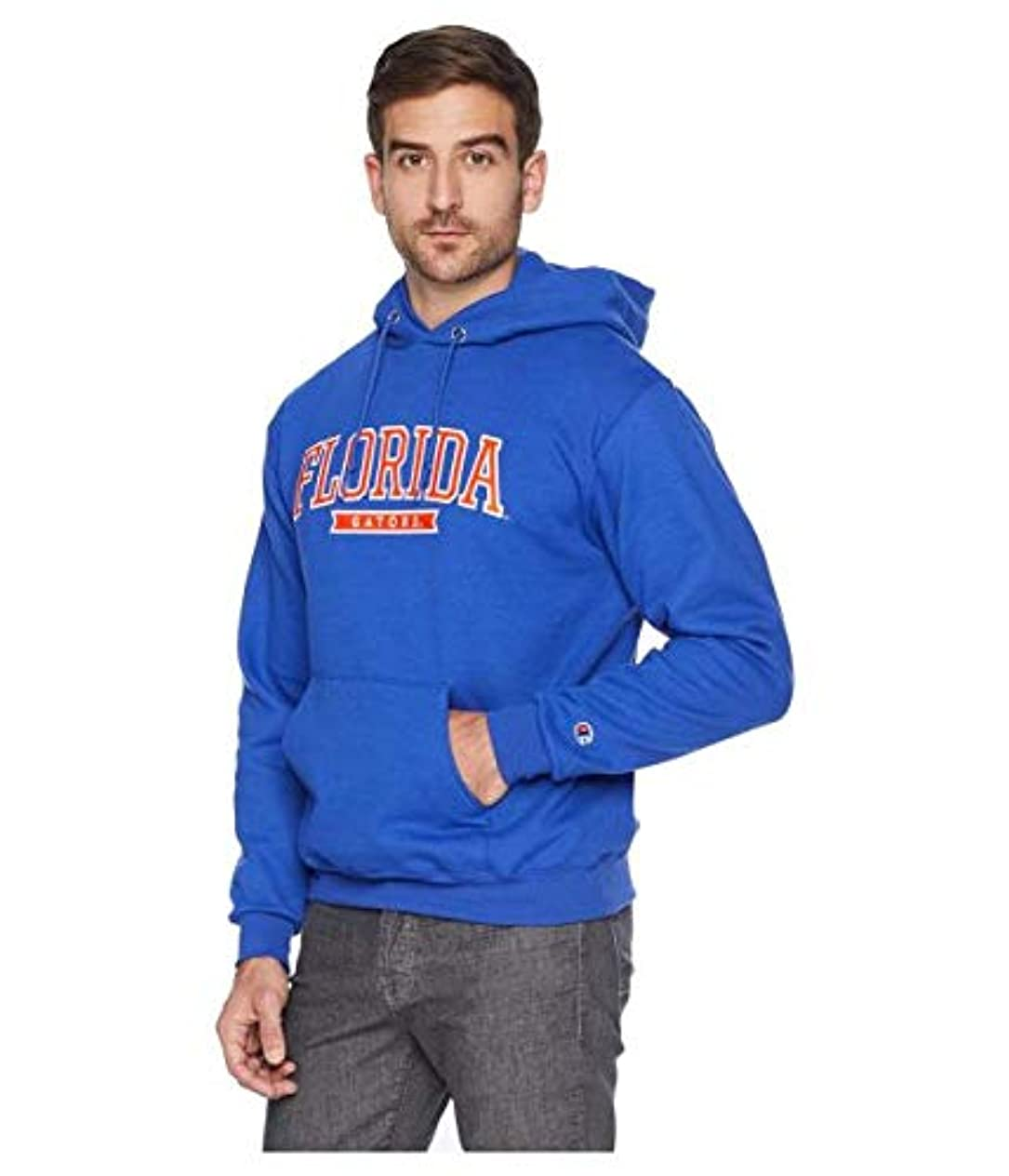 中断大破シェルChampion College Florida Gators Eco? Powerblend? Hoodie 服 LG 【並行輸入品】