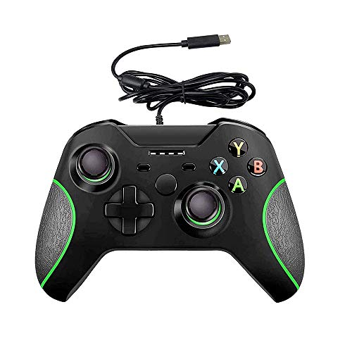 Wired Controller for Xbox one, USB Gamepad Controller with Dual Vibration of Headphone Jack, Suitable for One S/Xbox One X/PC Windows 7/8/10