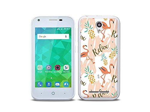etuo Handyhülle für ZTE Blade L110 - Hülle Fantastic Hülle - Rosa Flamingos - Handyhülle Schutzhülle Etui Hülle Cover Tasche für Handy