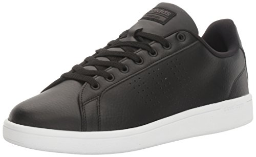 adidas NEO Men's CLOUDFOAM ADVANTAGE CLEAN Shoe, BLACK/BLACK/DARK SOLID GREY, 8.5 Medium US