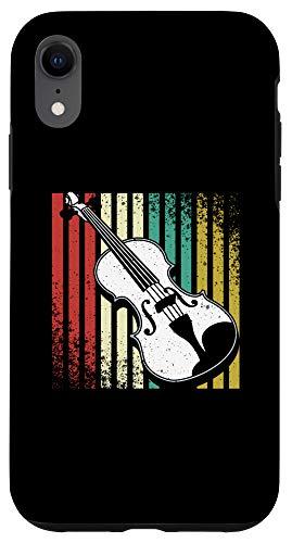 iPhone XR Vintage Violin Music Strings Instrument Viola Player Gift Case