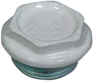 OTER Tapón Ciego Derecho/Izquierdo, galvanizado Barnizado para radiadores de 1 Pulgada, Color Blanco